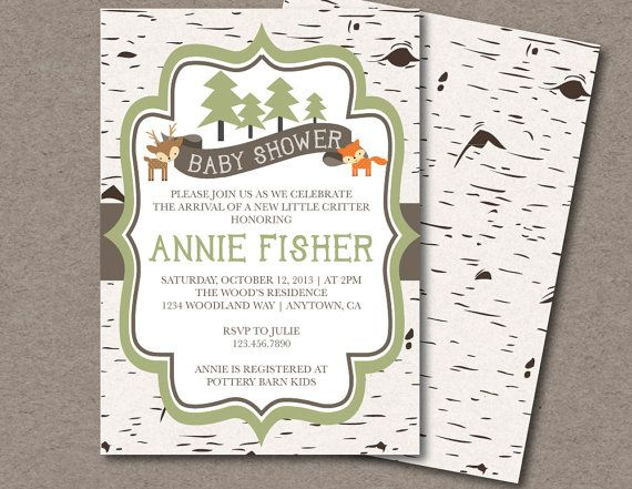 best 25+ forest baby showers ideas on pinterest | woodland baby, Baby shower invitations