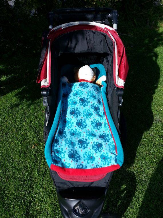 Stroller Blanket Reversible by NoraMadeMe on Etsy