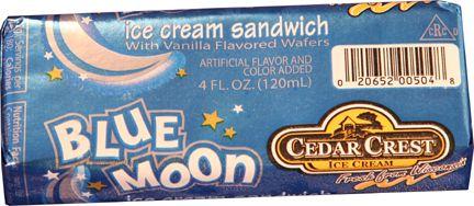 Blue Moon - Ice Cream Cookie Sandwich -By Cedar Crest