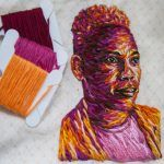 Intimate Embroidered Portraits by Danielle Clough