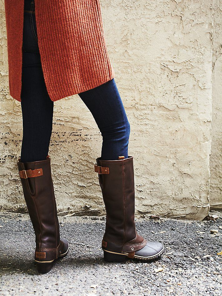 Slimpack Riding Tall Boot | Western-inspired riding boots with stacked heels and rubber-wrapped soles. Full-grain leather uppers with suede accents.
