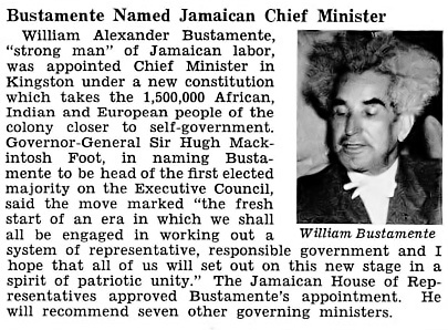 William Alexander Bustamante Named Chief Minister of Jamaica - Jet Magazine, May 21, 1953 by vieilles_annonces, via Flickr