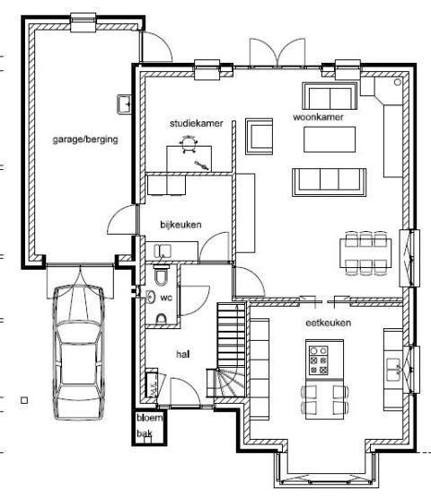 Tekeningen - De bouw aan de Bernagie te Meppel
