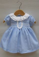 121b1a9922ed Spanish Boutique Sardon Baby Girl Dress Pale Blue Lunes Sz 12 M Bonpoint