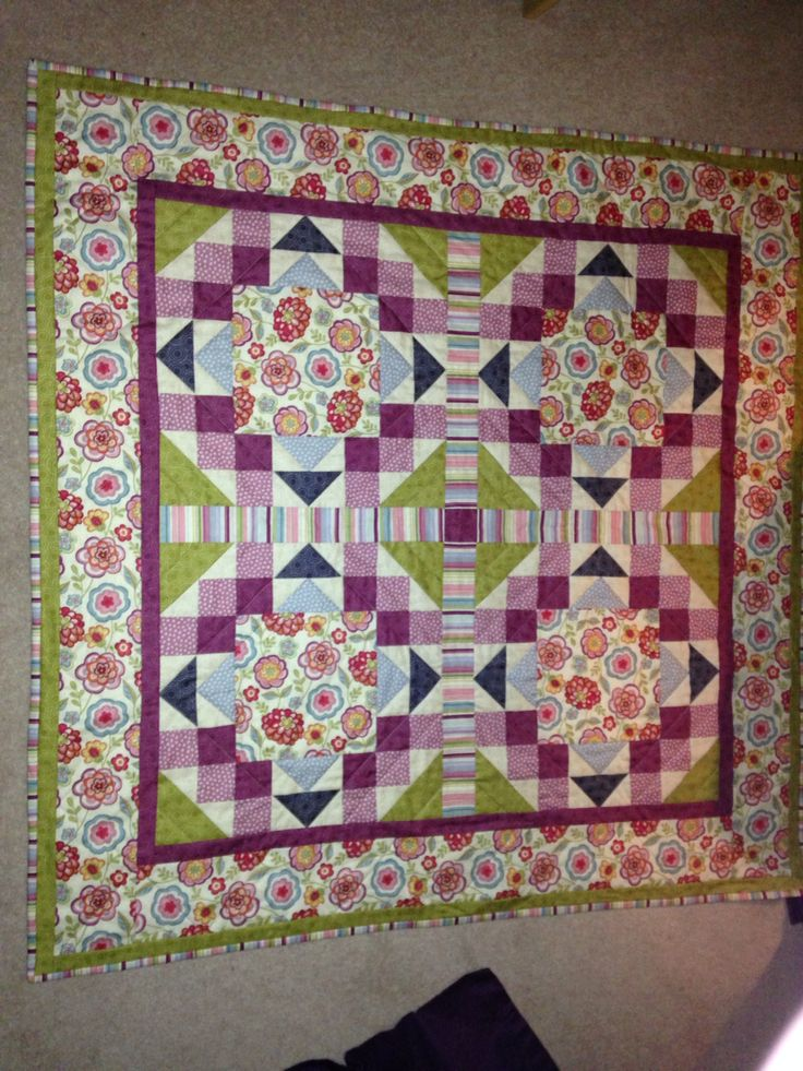 Another hand made quilt from my mother for my birthday. :)