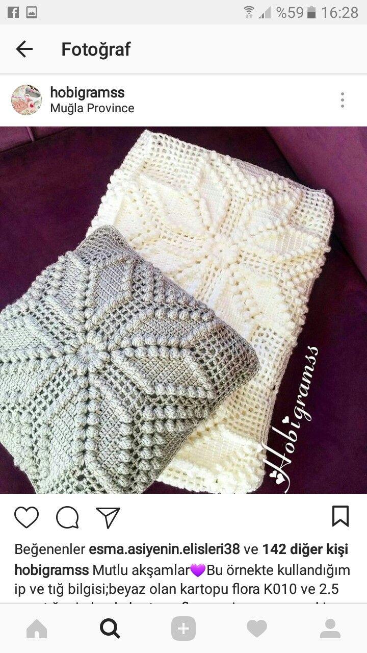 The 99 best örgü batyaniye images on Pinterest | Crochet blankets ...