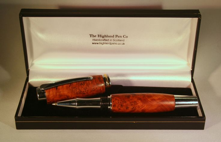 Highland Pen Company make handcrafted pens (ballpoint, roller and fountain), using different types of material including oak from whisky casks, deer antler, vintage pen rod, and various other hardwoods and acrylics. The products are not however restricted to pens but also includes letter openers, dog whistles, gentlemen's razors, tablet stylus's, torches etc.