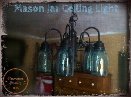 primitive kitchen lighting ideas | Mason Ball Jar Project - Primitive  Ceiling Light | Michelle's Country