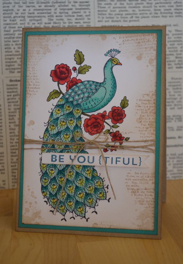 Perfect Peacock - Gorgeous card from an Australian blog, love it! Buy in the UK here http://www2.stampinup.com/ECWeb/ProductDetails.aspx?productID=133830&dbwsdemoid=5007342 For information on becoming a Stampin' Up! Demo email me hdingy45@gmail.com