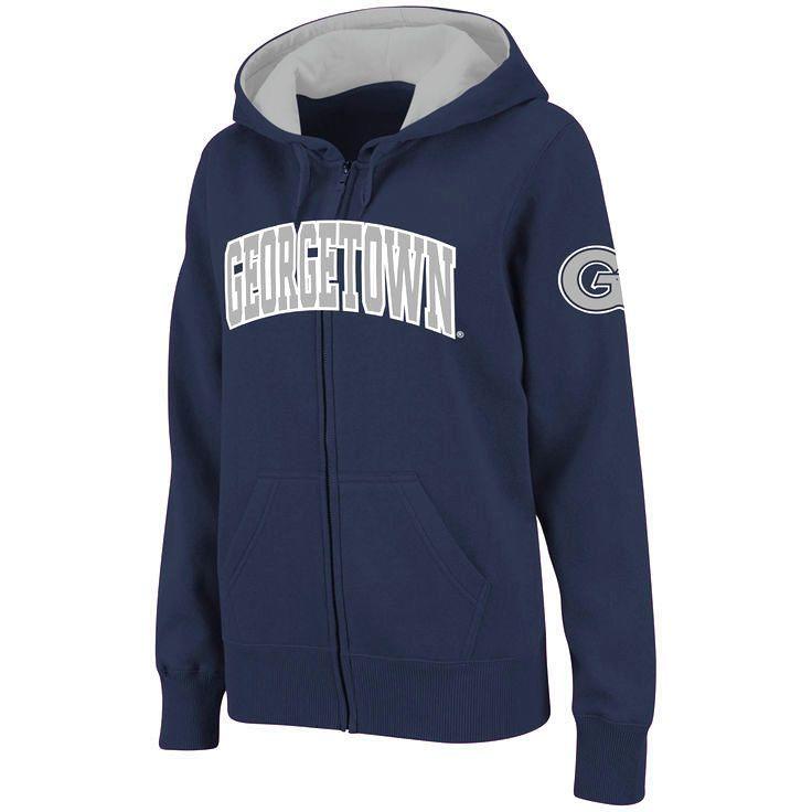 Georgetown Hoyas Stadium Athletic Women's Arched Name Full-Zip Hoodie - Navy - $31.99
