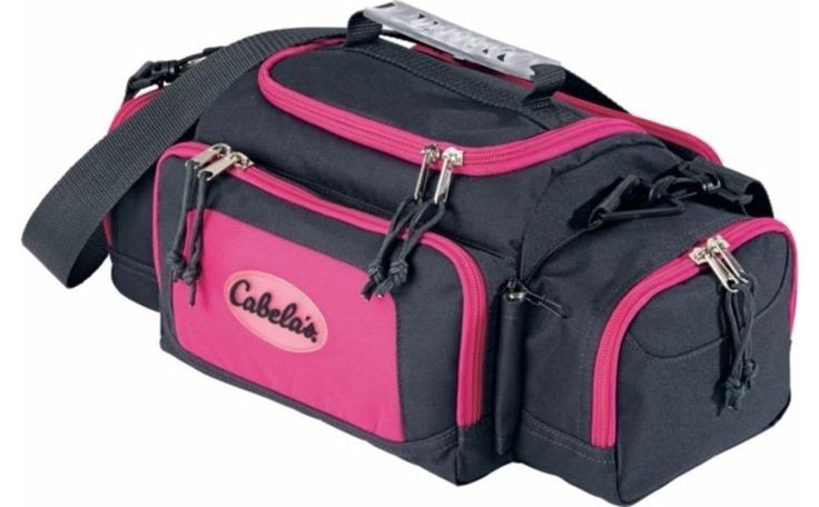 Fishing Tackle Bag Pink Ladies Retractor Tool 4 Boxes Included Adjustable Strap #Cabelas