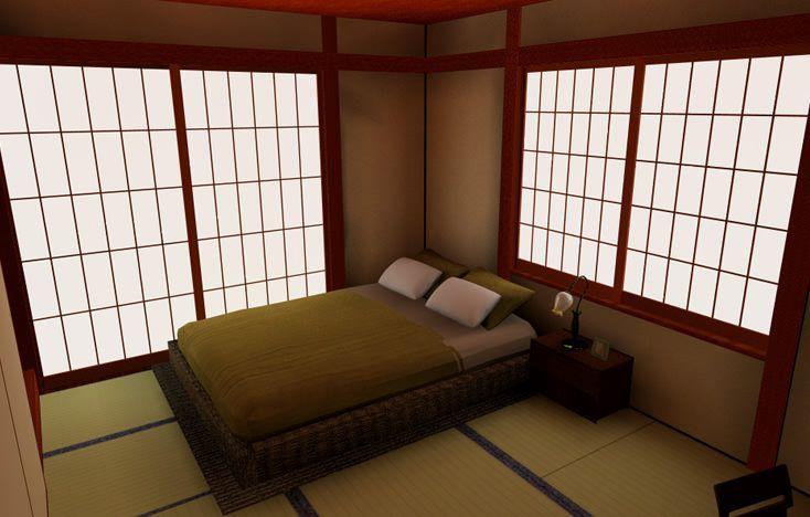 和室にベッドを配置イメージ画像0