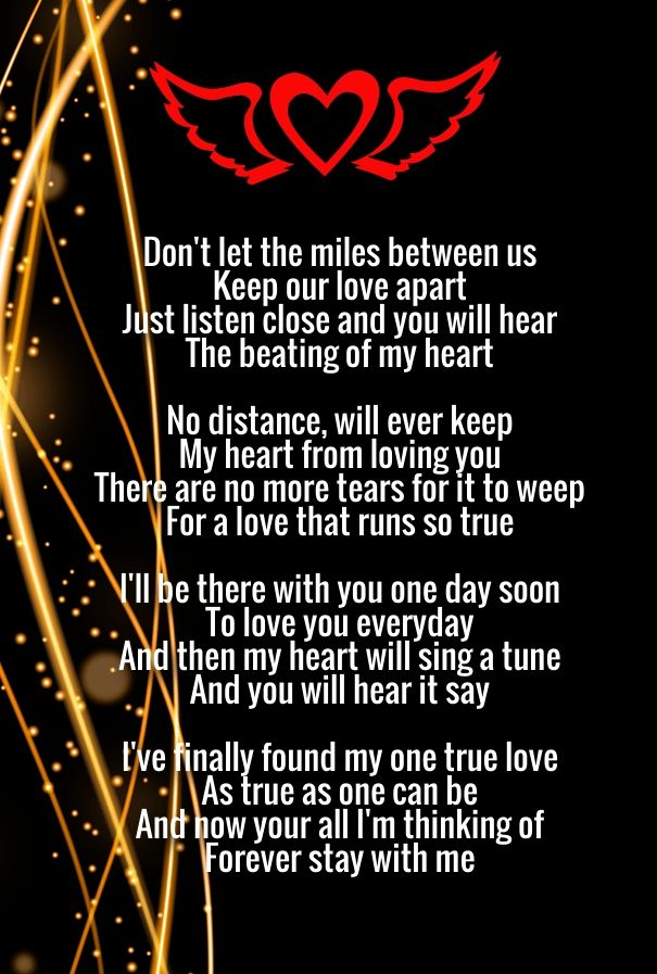 long distance relationship miles apart poems