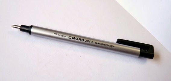 A Penchant for Paper: Eraser Review: Tombow MONO Zero