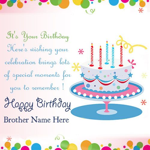 Best Happy Birthday Greetings Card For Brother Happy