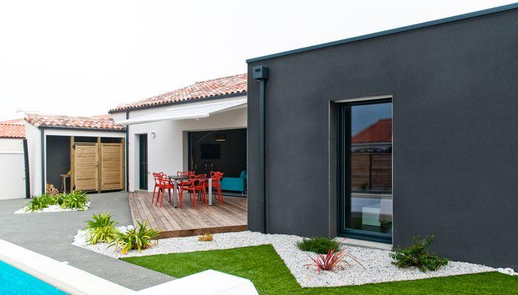 Les 38 meilleures images du tableau nos r alisations sur for Constructeur maison contemporaine charente