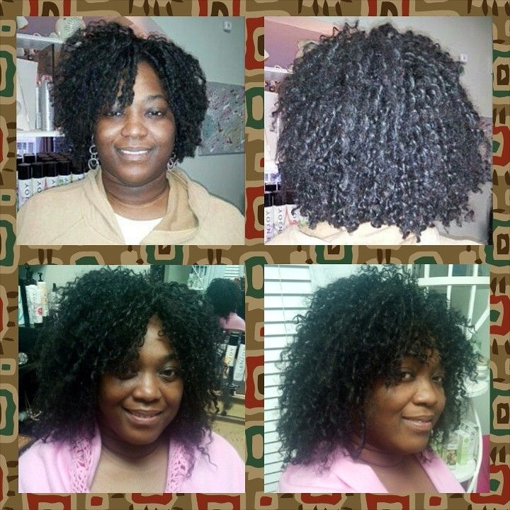Crochet Braids Elegance : Lady K LUVS crochet braids. Top pic is 90 days old. Bottom pic she is ...