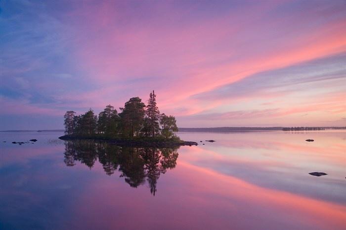Island in the Clouds   Lake Engozero, Republic of Karelia, Russia