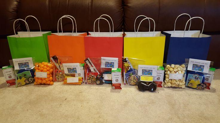 Rescue Bot Favor bags: Boulder bag, Blades bag, Heatwave bag, Bumblebee bag, Chase bag