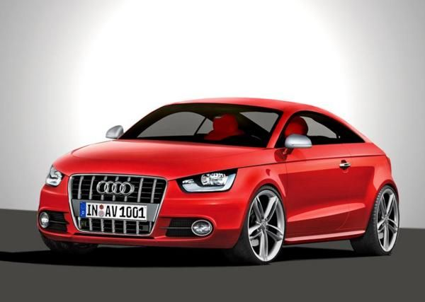 The red Audi A1 Coupé Sport car wallpaper - Car Picture Collection