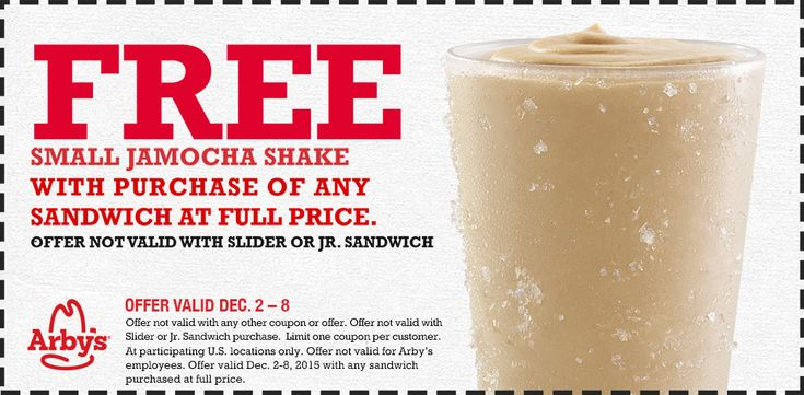 Pinned December 3rd Free jamocha shake with your sandwich