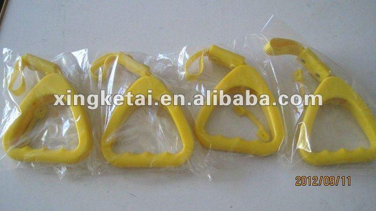 City Bus Yellow Nylon Strap Yellow Plastic Handle Hand Grip