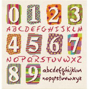 Fiche broderie point de croix de Lilipoints Idées Chiffres et Alphabet CL006