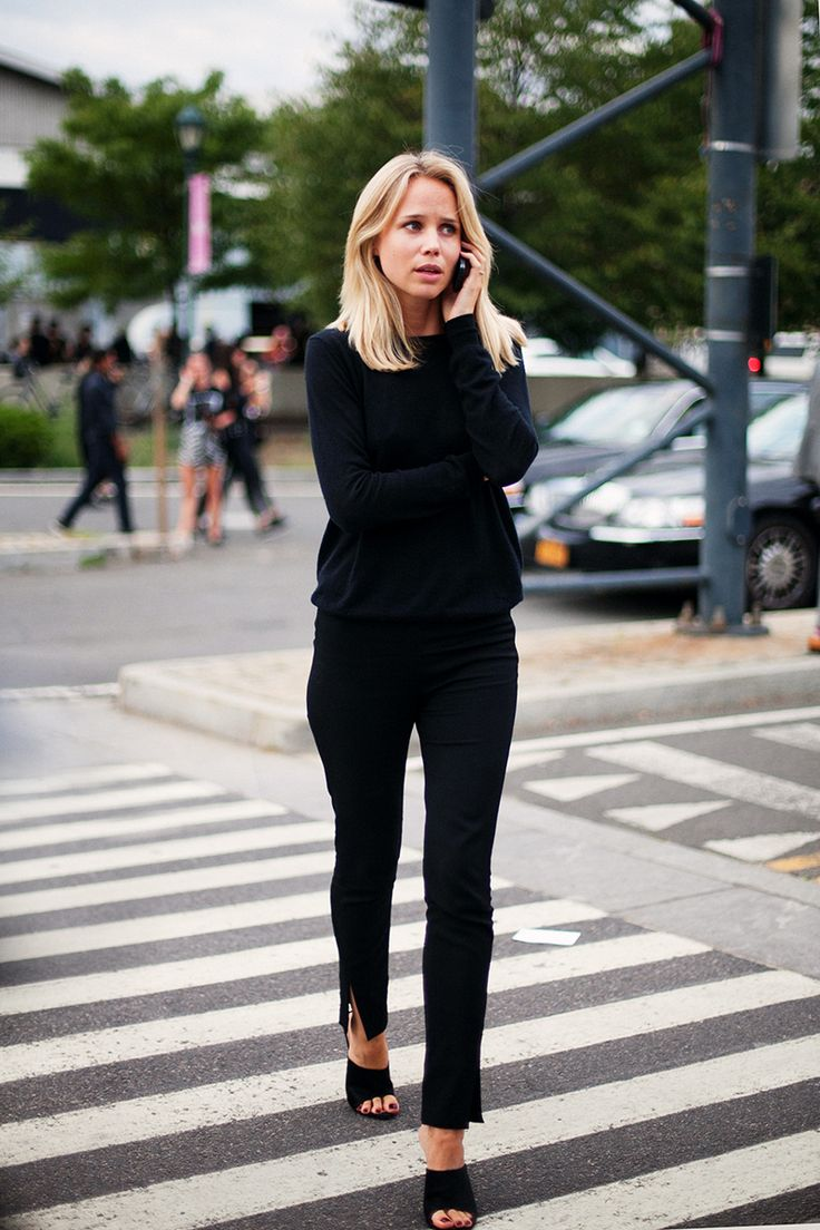 Elin Kling in all black.