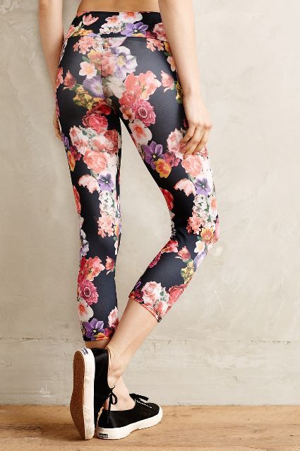 Pop-Print Capri Leggings - anthropologie.com