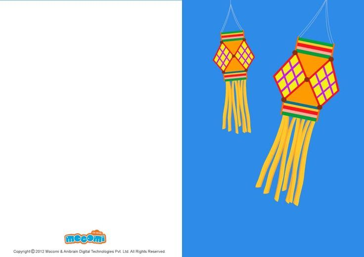 #DiwaliLanterns – Download this #diwaligreetingcard which can be downloaded for free to send to your near and dear one's this Diwali. For more cool #greetingcard for #kids, visit: http://mocomi.com/fun/arts-crafts/printables/cards/