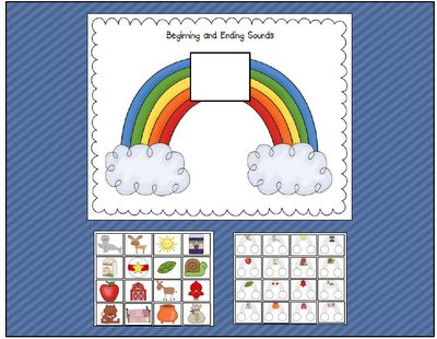 Beginning and ending sound rainbow - blog source:  Can Do Kinders