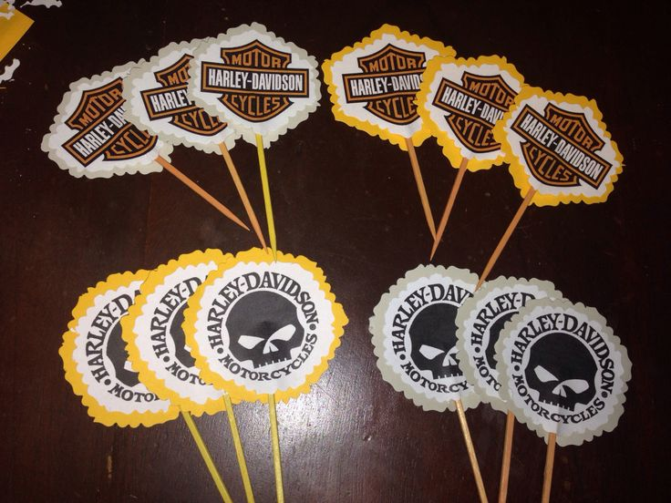 Harley Davidson Cupcake Toppers Made By Me Baking