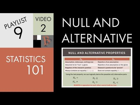 null and alternative hypothesis pdf free