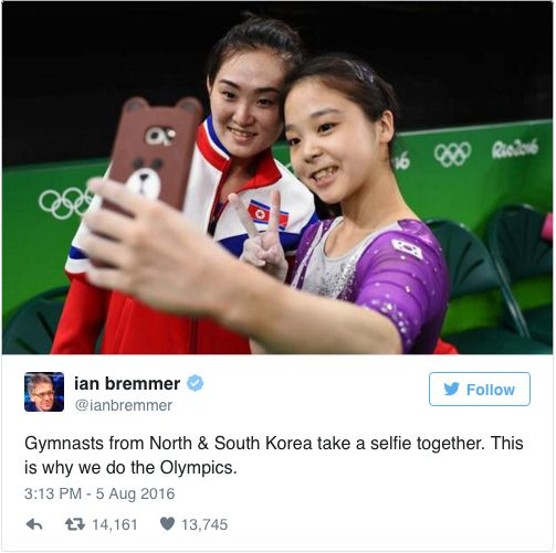 North and South Korean Gymnasts Take Adorable Selfies in Rio
