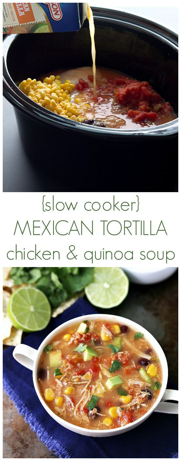 Mexican and Quinoa Soup   rings uk Chicken Tortillas  band silver Recipe Quinoa Cooker Mexicans   Tortilla Slow Soup