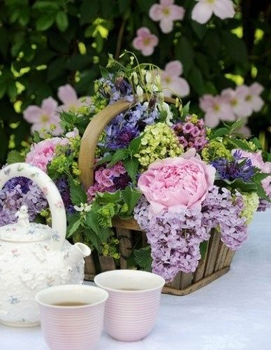 Afternoon tea party in the garden..