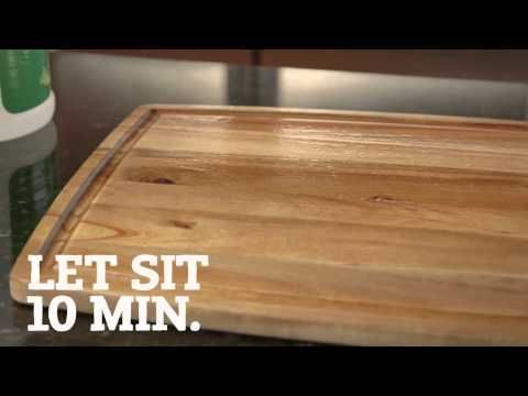 Restore Wood Cutting Boards. Part of the series: #eHowHacks: Home & Garden. Wood you believe that #eHowHacks has a treatment tip that will restore your faith in your cutting board? Put the umber back in your lumber with this helpful hack. Read more: http://www.ehow.com/video_12340951_restore-wood-cutting-boards.html