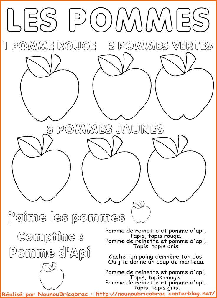 D couvrir les pommes activit garderie pinterest la pomme pommes et d couvrir - Activite automne maternelle ...