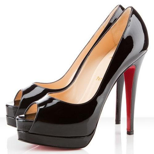 Black Pigalle Spikes are anything but simple! Here you can find your satisfied one. #Christian Louboutin #Shoe Paradise #red #bottoms