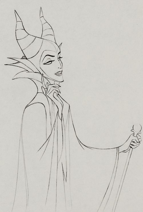 Production Drawing of Maleficent for Disney's Sleeping Beauty (1959)