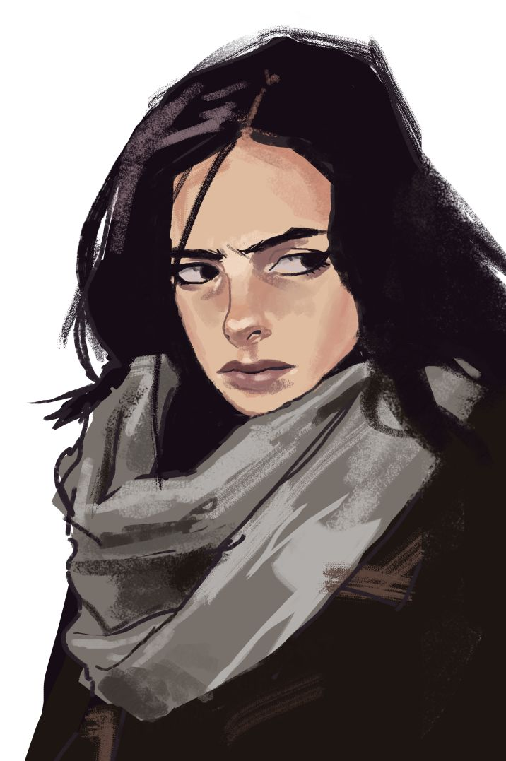 That's a Smith and Wesson, and you've had your six | Jessica Jones Sketch