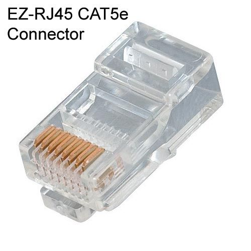 EZ RJ45 and RJ11-12 Plug Connectors - The ubiquitous #RJ45 connector allows for easy termination of #Cat5, #Cat5e, & #Cat6 #cables. The #RJ11 works on solid or stranded #wire for #telephone and #security installations. Easy to set up, highly compatible, and reliable. Available in various quantities. Find out more at CableOrganizer.com!