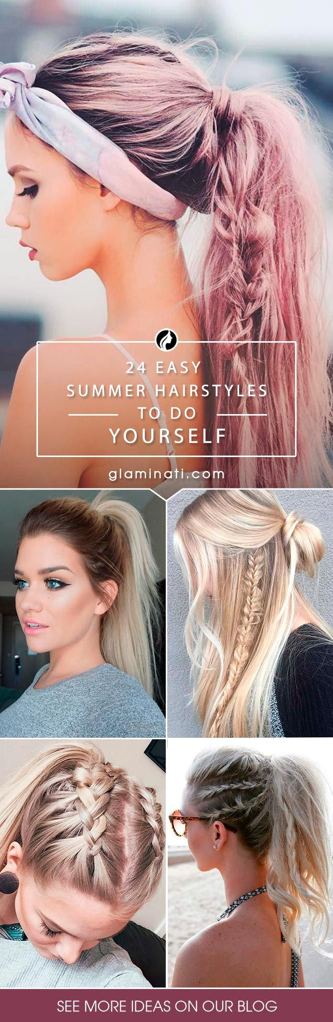 Our collection of easy summer hairstyles will help you to look drop dead gorgeous on the beach or poolside. And the best thing is that these hairstyles will be ideal not only for dry but also for wet hair. No guy will pass by such a beauty!