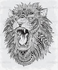 bildergebnis für zentangle tiere | löwe tattoo-design, löwen tätowierung, löwen illustration