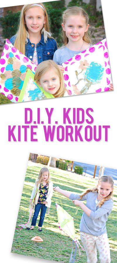 Let's Go Fly A Kite–DIY Kite and Kids workout | Create lovely kites for your kids' leisure. Enjoy this wonderful tutorial and photos. #DIYready