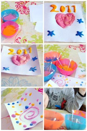 Puff-paint pour les enfants ou la peinture qui gonfle au micro-ondes