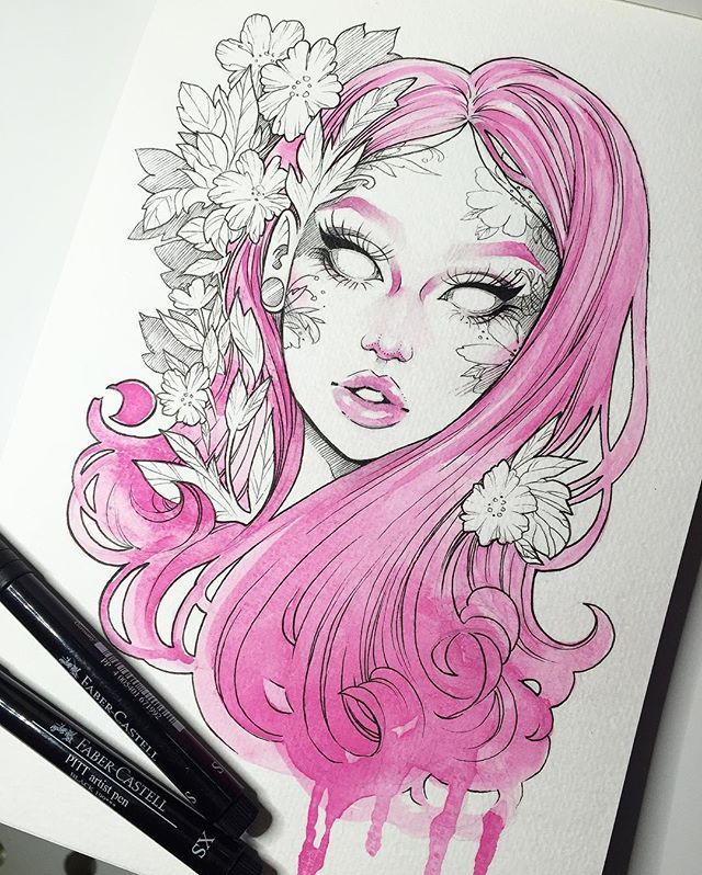 Love this water color ink mix