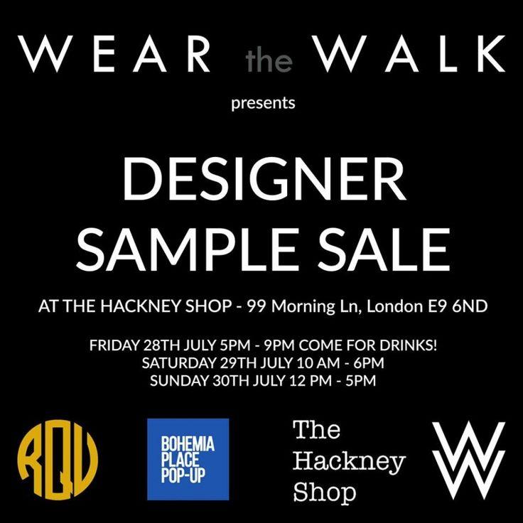 Wear the Walk's Designers: sample sale -- London -- 28/07-30/07