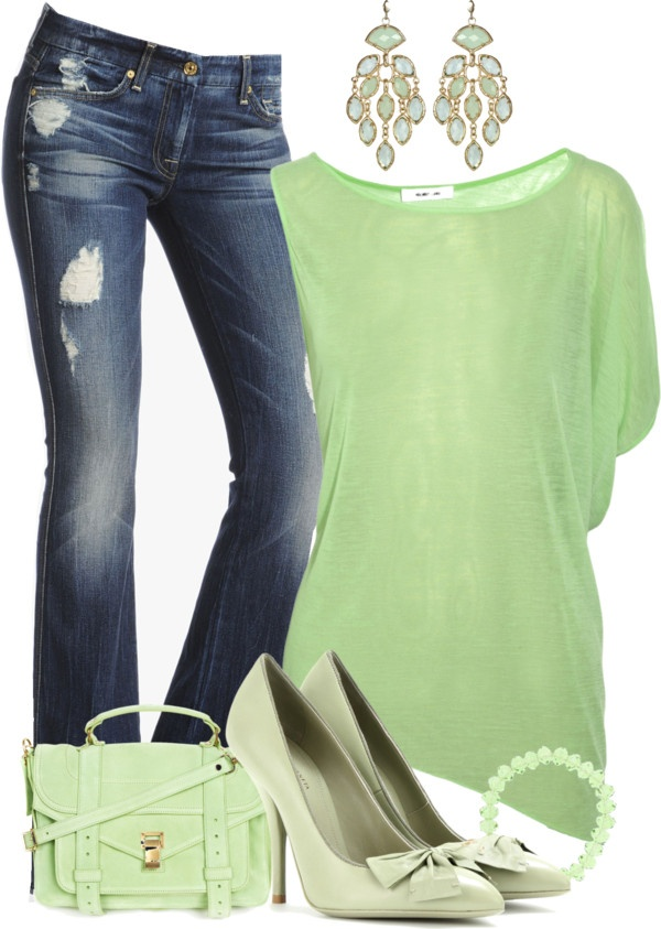 """""""Bottega Veneta Pumps & Asymmetric Jersey Top"""" by stay-at-home-mom on Polyvore"""