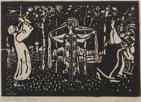 Collection Online | Vasily Kandinsky. Birches (Schalmei). 1907 - Guggenheim Museum